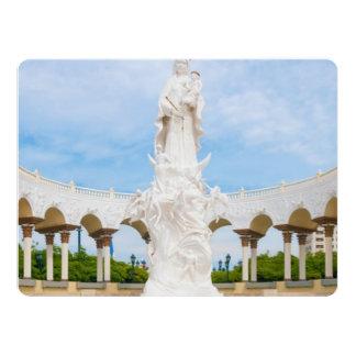 """Basílica de nuestra señora del rosario de invitación 6.5"""" x 8.75"""""""