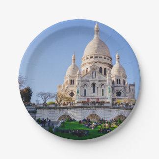 Basílica de Sacre Coeur, arquitectura francesa, Plato De Papel De 7 Pulgadas