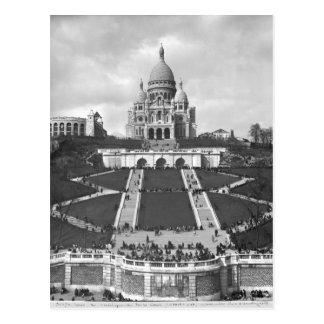 Basílica de Sacre-Coeur, Montmartre, 1876-1910 Postal
