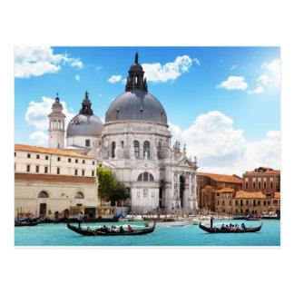 Basílica de Santa María en Venecia, Italia Tarjetas Postales