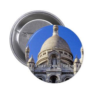 Basílica de Sarcre Coeur en París, Francia Pin Redondo 5 Cm