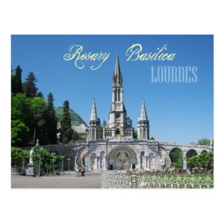 Basílica del rosario, Lourdes, Francia Tarjeta Postal