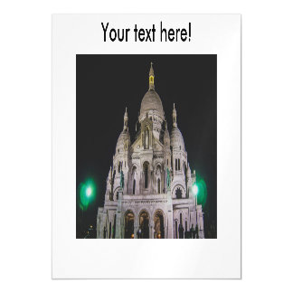 Basílica del Sacré Cœur, París en la noche Invitaciones Magnéticas