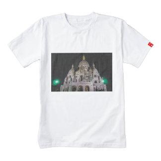 Basílica del Sacré Cœur, París en la noche Playera Zazzle HEART