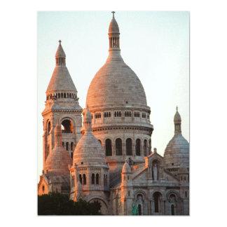 """Basílica del Sacré Cœur, París Invitación 6.5"""" X 8.75"""""""