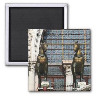 Basilica di San Marco a Venezia (Venice) 2 Inch Square Magnet