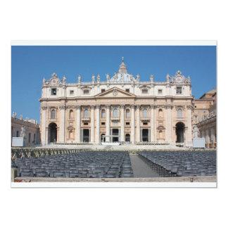 """Basilica di San Pedro, Ciudad del Vaticano, Roma, Invitación 5"""" X 7"""""""