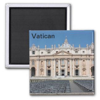 Basilica di San Pietro, Vatican City, Rome, Italy 2 Inch Square Magnet