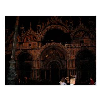 Basílica, el cuadrado de St Mark, Venecia en la Postal