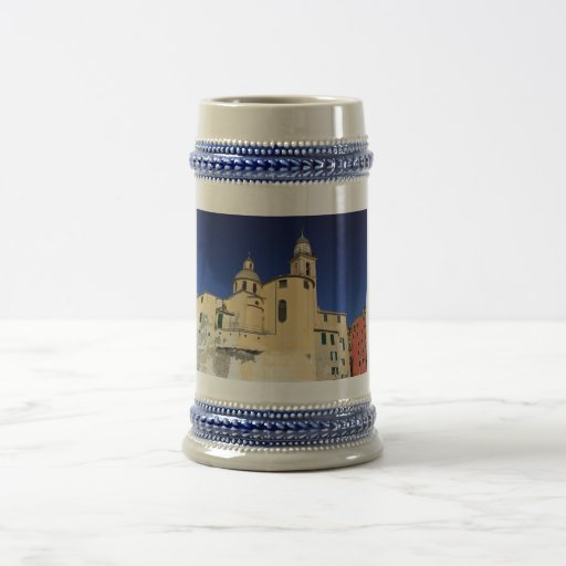 Basilica in Camogli 18 Oz Beer Stein