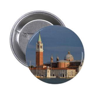 Basilica in Venice in Italy Pinback Button