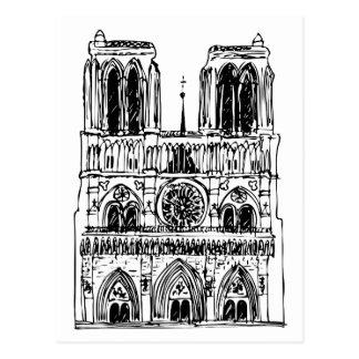 basilica Notre Dame Postcard
