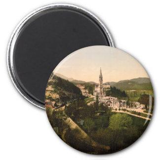 Basilica of Notre Dame, Lourdes, France 2 Inch Round Magnet