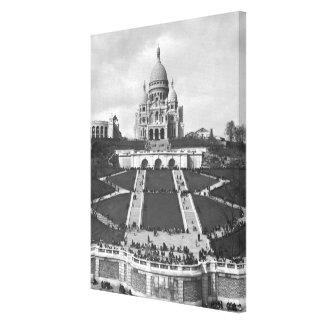Basilica of Sacre-Coeur, Montmartre, 1876-1910 Canvas Print