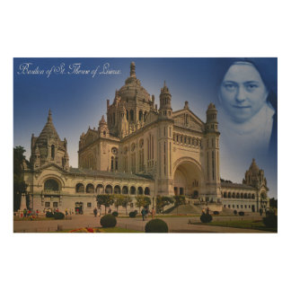 BASILICA OF ST. THERESE OF LISIEUX. WOOD WALL DECOR