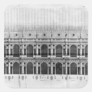 Basílica Palladiana en Vicenza Pegatina Cuadrada
