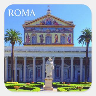 Basilica Papale San Paolo fuori le Mura Square Sticker