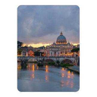 """Basílica Roma Italia de San Pedro del puente de Invitación 4.5"""" X 6.25"""""""