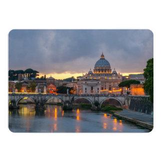 """Basílica Roma Italia de San Pedro del puente de Invitación 5"""" X 7"""""""