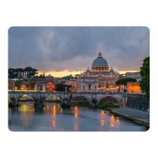 """Basílica Roma Italia de San Pedro del puente de Invitación 6.5"""" X 8.75"""""""
