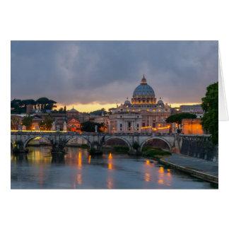 Basílica Roma Italia de San Pedro del puente de Tarjeta De Felicitación