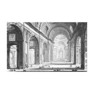 Basilica San Pietro Vaticano 1750 Canvas Print