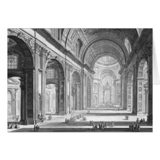 Basilica San Pietro Vaticano 1750 Greeting Card