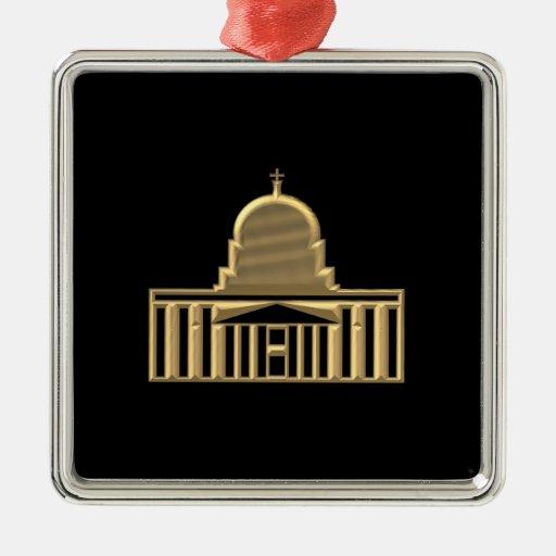 """Basílica """"tridimensional"""" de oro de Peters del san Ornamentos De Reyes Magos"""