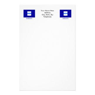 Basilicata flag with name stationery paper