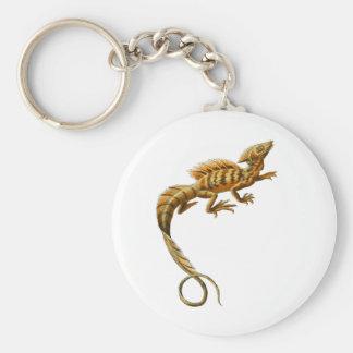 Basilisco común llavero redondo tipo pin
