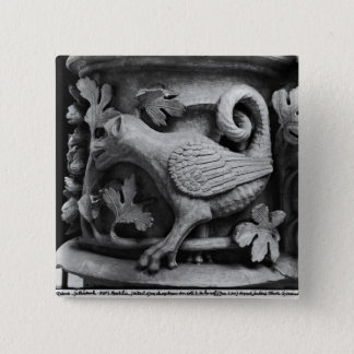 Basilisk, capital from Cathedral of Notre Dame Button