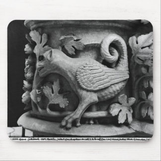 Basilisk, capital from Cathedral of Notre Dame Mouse Pad
