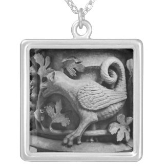 Basilisk, capital from Cathedral of Notre Dame Silver Plated Necklace