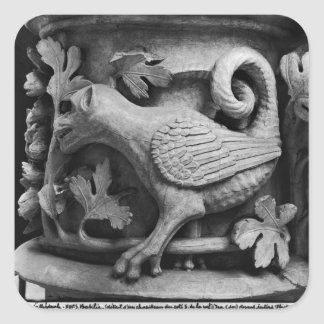 Basilisk, capital from Cathedral of Notre Dame Square Sticker