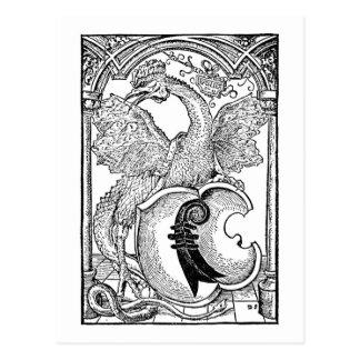 Basilisk Dragon Postcard