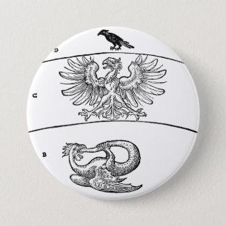 Basilisk, Eagle and Crow Pinback Button