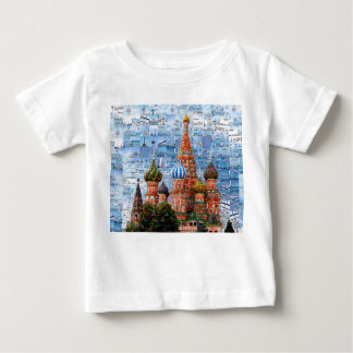 Basil's Cathedral collage - russia - kremlin Baby T-Shirt