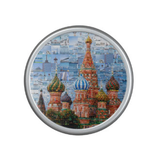 Basil's Cathedral collage - russia - kremlin Bluetooth Speaker