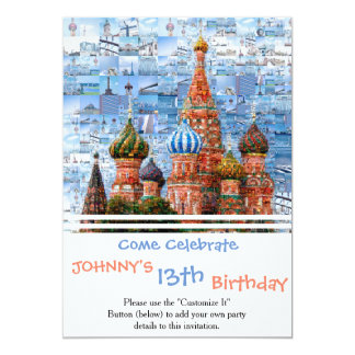 Basil's Cathedral collage - russia - kremlin Card