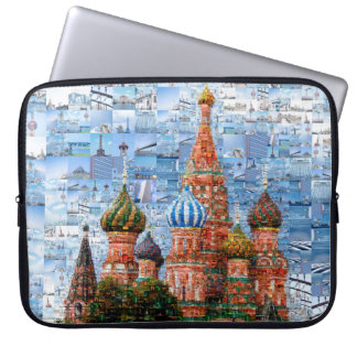 Basil's Cathedral collage - russia - kremlin Computer Sleeve