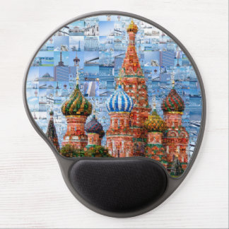 Basil's Cathedral collage - russia - kremlin Gel Mouse Pad