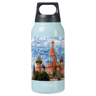 Basil's Cathedral collage - russia - kremlin Insulated Water Bottle