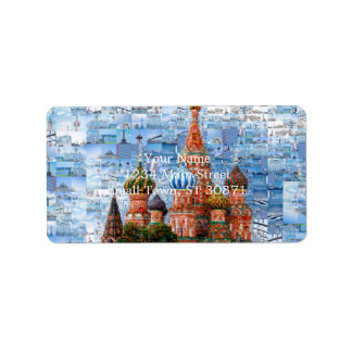 Basil's Cathedral collage - russia - kremlin Label