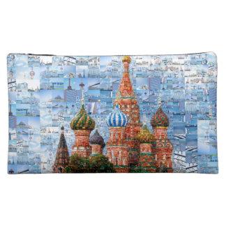 Basil's Cathedral collage - russia - kremlin Makeup Bag