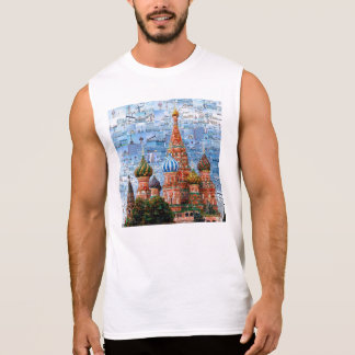 Basil's Cathedral collage - russia - kremlin Sleeveless Shirt