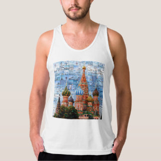 Basil's Cathedral collage - russia - kremlin Tank Top