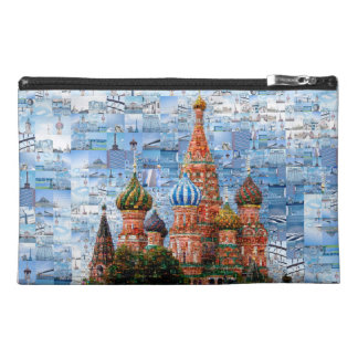 Basil's Cathedral collage - russia - kremlin Travel Accessory Bag