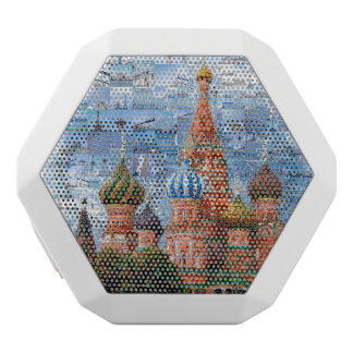 Basil's Cathedral collage - russia - kremlin White Bluetooth Speaker