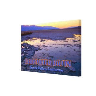 Basin - Death Valley, California Canvas Prints