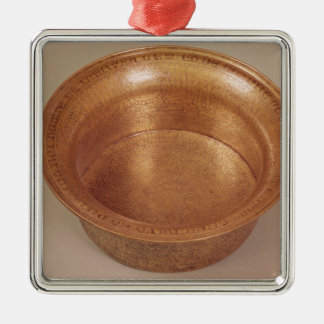 Basin decorated with geometric patterns christmas ornament